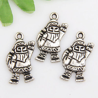100pcs Zinc alloy Santa Claus charms/pendants 23*12mm 1A91