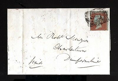 7073-GREAT BRITAIN-OLD COVER LETTER LEITH to DUNFERMLINE.1847.1Red penny.BRITISH