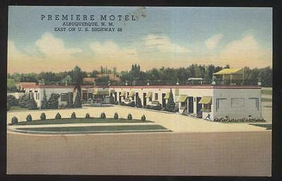 Postcard ALBUQUERQUE New Mexico/NM RT ROUTE 66 Premiere Motel Motor Court 1930's