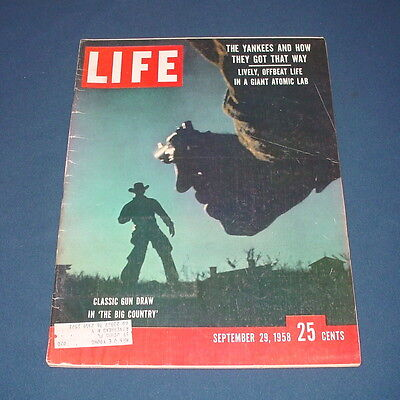 Life Magazine September 29 1958 Gregory Peck Jean Simmons Charlton Heston Ives