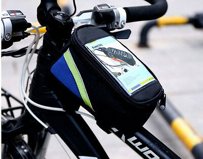 Waterproof Bicycle Frame Front Tube Phone Bag Cycling Cellphone Pouch Pannier