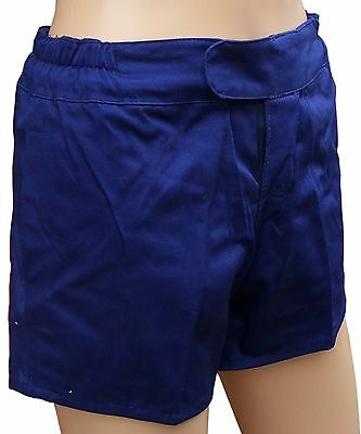 """TUFTEX Cotton Heavyweight Rugby Shorts French Navy 24"""" Tie Cord Waist"""
