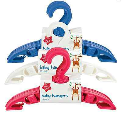 Baby clothes coat hangers childrens kids pink blue white