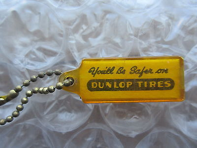 Old Vintage Dunlop Tires Plastic Key Chain Henry Thompson New Glasgow NS