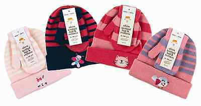 Baby girl hat mitts mittens gloves set