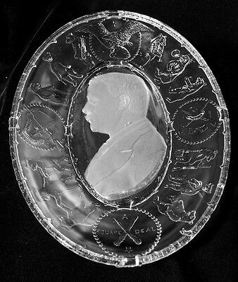 EAPG - THEODORE ROOSEVELT - Commemorative Oval Tray