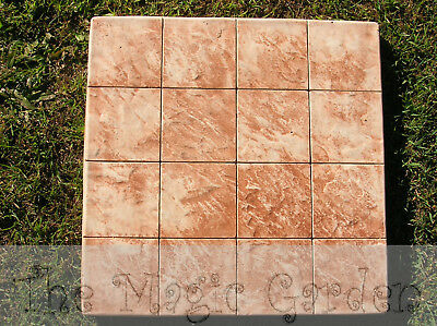 Large stepping stone paver cement garden D.I.Y. latex molds moulds