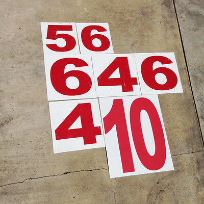 large magnetic number sign collection lot 4 5 6 9 10 retail vintage red decor