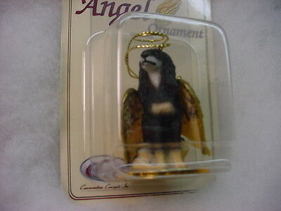 SALUKI dog ANGEL Ornament HAND PAINTED Resin Figurine Statue NEW Christmas puppy
