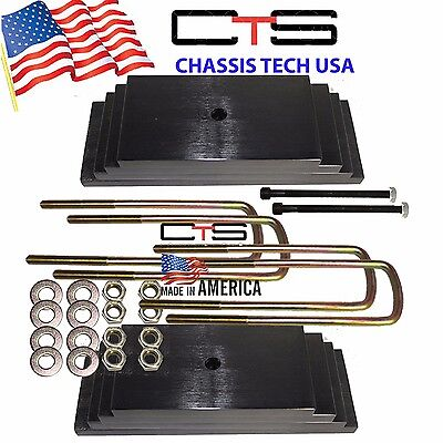 "Chassis Tech 99-04 FORD F250 Only 3.0"" Front Leveling lift kit Square Ubolts"