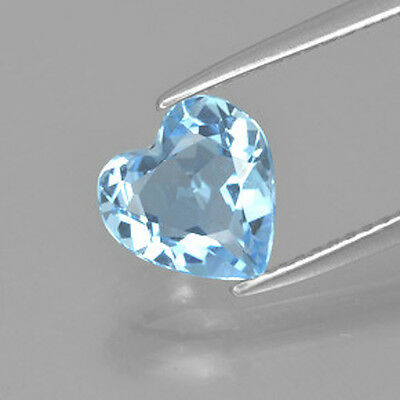 Masterpiece Collection: Heart Faceted Natural Light Sky Blue Topaz (6-14mm)