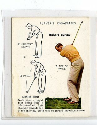 (Jc6433-100)  PLAYERS C.I.ISSUE,GOLF,RICHARD BURTON,MASHIE SHOT,1939,#6