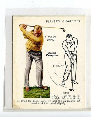 (Jc6437-100)  PLAYERS C.I.ISSUE,GOLF,ARCHIE COMPSTON,DRIVE,1939,#8