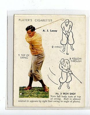 (Jc6459-100)  PLAYERS,GOLF,A.J.LACEY,NO 3 IRON SHOT,1939,#19
