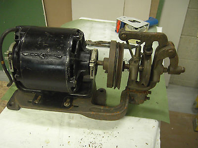 Atlas Industrial Sewing Machine Clutch Assembly &1/3 Hp Motor Mounted