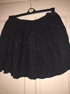 Marks & Spencer's Girls Black Skirt With Gold Studs Age 13/14 New With Tags