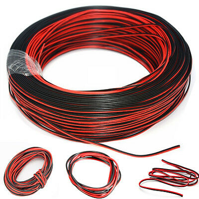 2Pin Cars Motorcycle Electric Wire Cable Red/Black Connector For Led 3528/5050