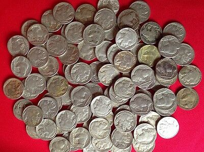 ✯ (1) Buffalo Nickel FULL DATE ✯ Classic Old U.S. Coins 1913-1938 ✯Antique Money
