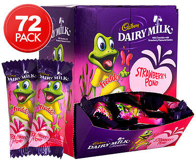 72 x Cadbury Strawberry Freddo Frogs 15g