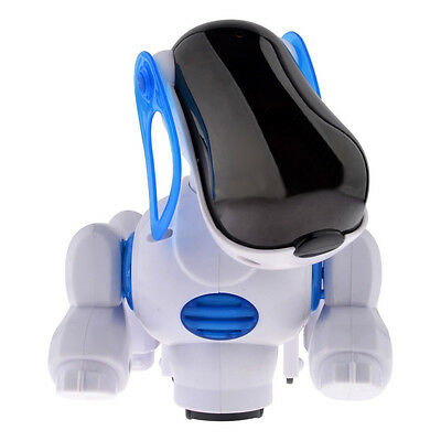 Electronic Robotic Walking Blue Pet Dog Puppy Kids Toy With Music Light Gifts