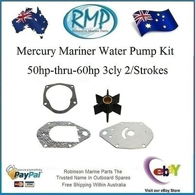 A Brand New Water Pump Kit Mercury Mariner 50hp-thru-60hp # R 46-812966A11 Nice