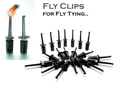 Fly Tying ** Fly Clips ** for Displaying & Drying Trout & Salmon Fishing Flies