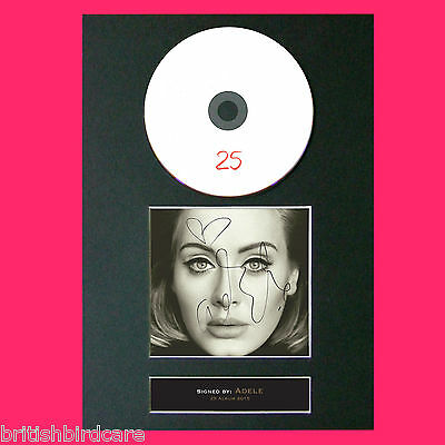 ADELE 25 (RARE) Signed Album COVER Repro Cd Print A4 Photo Quality Autograph 70