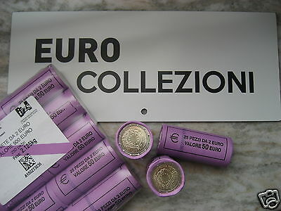 ITALIEN 2015 25 x 2 Euro ROLLE ROLL ROULEAU EUROPAFLAGGE FLAG ITALY
