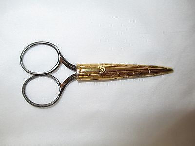 Antique Scissors Gold Plated/Filled Sheath Small 128B