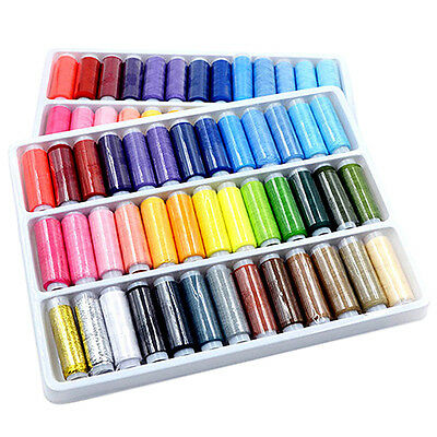 39Pcs Mixed Colors Polyester Sewing Thread Machine Hand 200 Yard /spool Delicate