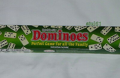 28 pcs Double Six 6 Dominoes Set Box Traditional Board Travel Game Toy  NEW