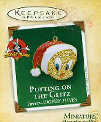 Hallmark 2004 Putting on the Glitz Tweety Looney Tunes Miniature Ornament MIB