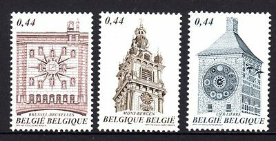 Belgium 2005 Town Hall Clocks Set 3 MNH