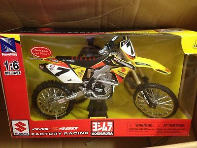 Factory Suzuki Rmz 450 James Stewart Model Diecast Huge 1:6 Scale Mx Mxer Gift