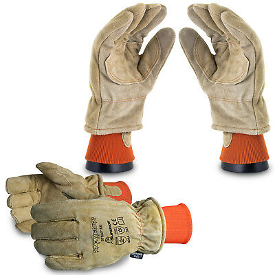 Superiorglove Snowforce™ Brown Split-Leather Lined Freezer Work Gloves