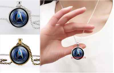 Silver/Bronze Star Trek Movie Steampunk Glass necklace for men woman Jewelry