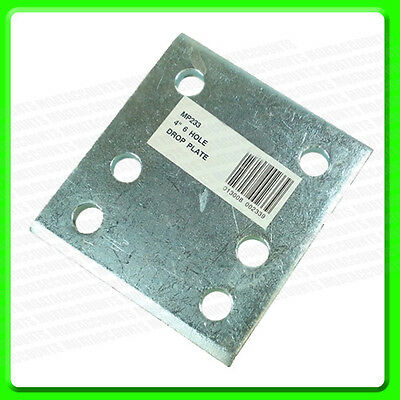 "4"" Tow Ball Drop Plate with 6 Holes [MP233] Zinc Plated"