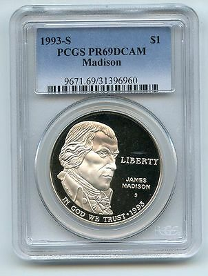 1993 S $1 Bill of Rights Silver Commemorative Dollar PCGS PR69DCAM