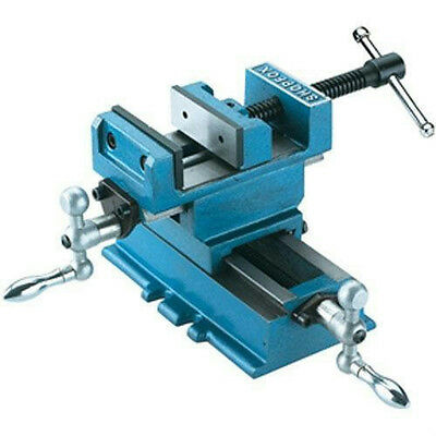 "Shop Fox 3"" Cross Sliding Vise 4"" x 5"" Travel X-Y Slide Mill Drill Position New"