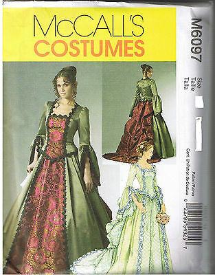 Renaissance Victorian Dress Wedding Gown Costume Sewing Pattern Size 6 8 10 12