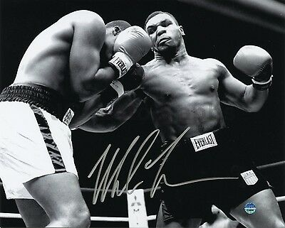 Mike Tyson Autographed 8x10 Over Reggie Gross - Private Signing - Steiner / JG