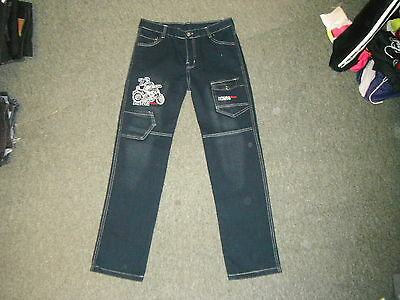 "King Pants Classic Jeans Waist 30"" Leg 27"" Faded Dark Blue Boys 14 Yrs Jeans"