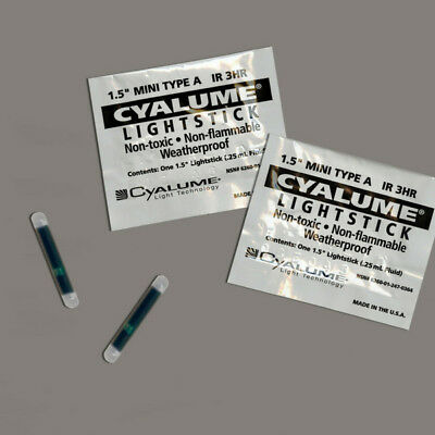"""50x Outdated 1.5"""" Cyalume ChemLight Military Light Glow Stick, Infrared 3 Hour"""