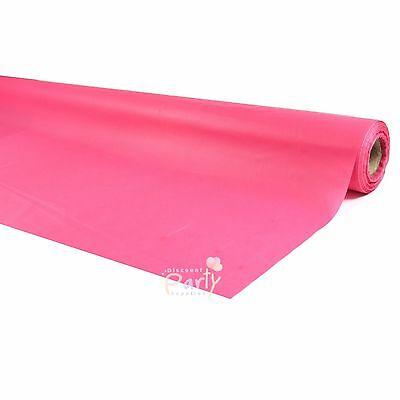 Hot Pink Plastic 30M Banquet Party Table Roll Tablecover Tablecloth Tableroll