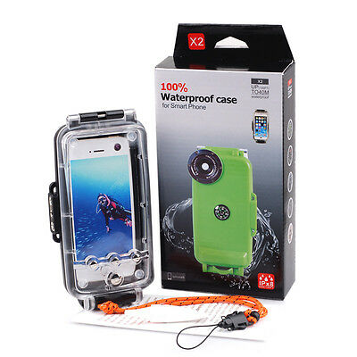 40M Waterproof Underwater Diving Housing Cover Case for iPhone 6s