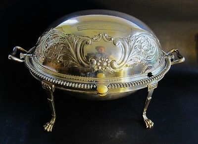 Superb 19th C. American Silverplate Breakfast Warming Dish  c. 1890   antique