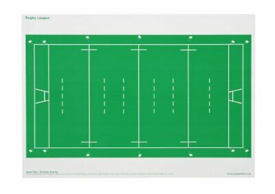 2 x Game Plan - RUGBY UNION LEAGUE OVERLAY can be used on Magnetic Whiteboard