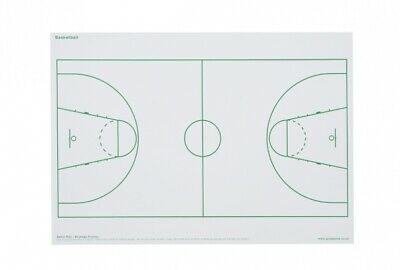 2 x  BASKETBALL TACTICS OVERLAYS can be used on Magnetic Whiteboard
