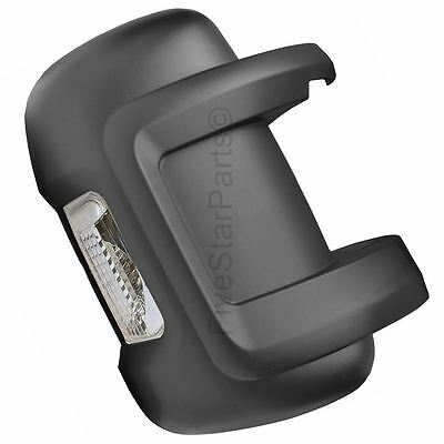 Driver Right wing door black mirror cover with indicator for Citroen Relay 06-15