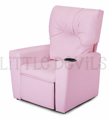PINK RECLINER KIDS/CHILDRENS ARMCHAIR/GAMES CHAIR/SOFA/SEAT in PU LEATHER LOOK